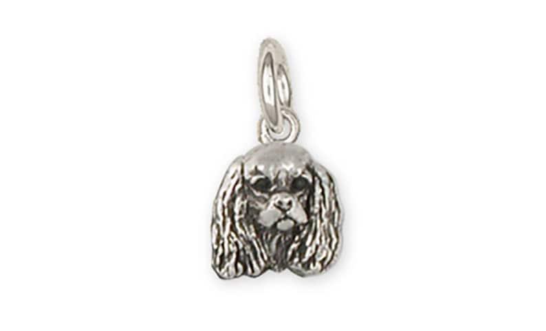 Cavalier King Charles Spaniel Cuff Links Jewelry Handmade Sterling Silver KC17-C