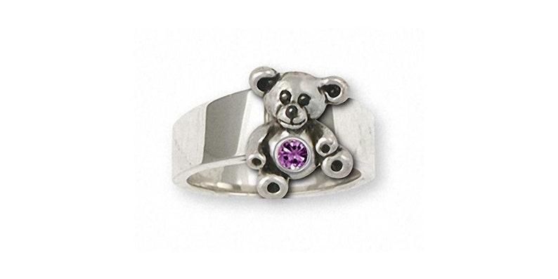 Teddy Bear Jewelry Teddy Bear Ring Jewelry Sterling Silver Handmade Teddy Bear Ring TB10-SR