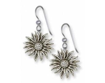 Sunflower Earrings Jewelry Sterling Silver Handmade Flower Earrings FL7-FW