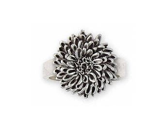Chrysanthemum Jewelry Sterling Silver Chrysanthemum Ring Handmade Flower Jewelry CRY-R