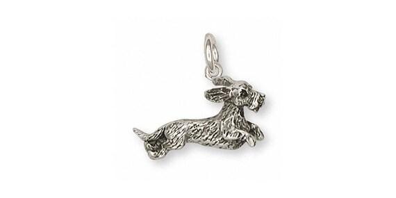 Long Hair Dachshund Pendant Jewelry 14k Gold Handmade Dog Pendant LD2-PG