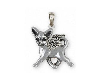 Chihuahua Angel Jewelry Sterling Silver Chihuahua Angel Pendant Handmade Dog Jewelry CHW11-AP