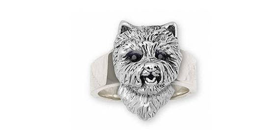 Westie Jewelry Westie Charm Westie Jewelry Westie Ring Jewelry Sterling Silver Handmade West Highland White Terrier Ring WT31-R