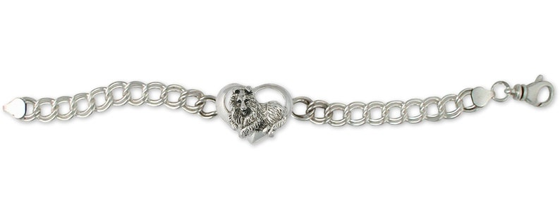 Sheltie Jewelry Sheltie Bracelet Jewelry Sterling Silver Handmade Dog Bracelet COL7S-BR
