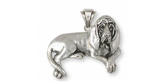 Sterling Silver Bloodhound Dog Pendant