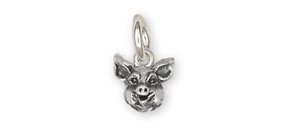 Guinea Pig Charm Jewelry Sterling Silver Handmade Piggie Charm GP5-C