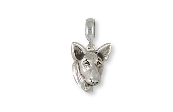 Bull Terrier Pendant Handmade Sterling Silver Dog Jewelry BU4-P