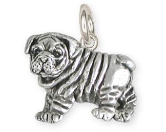 Solid Bulldog Charm Jewelry BD27-C