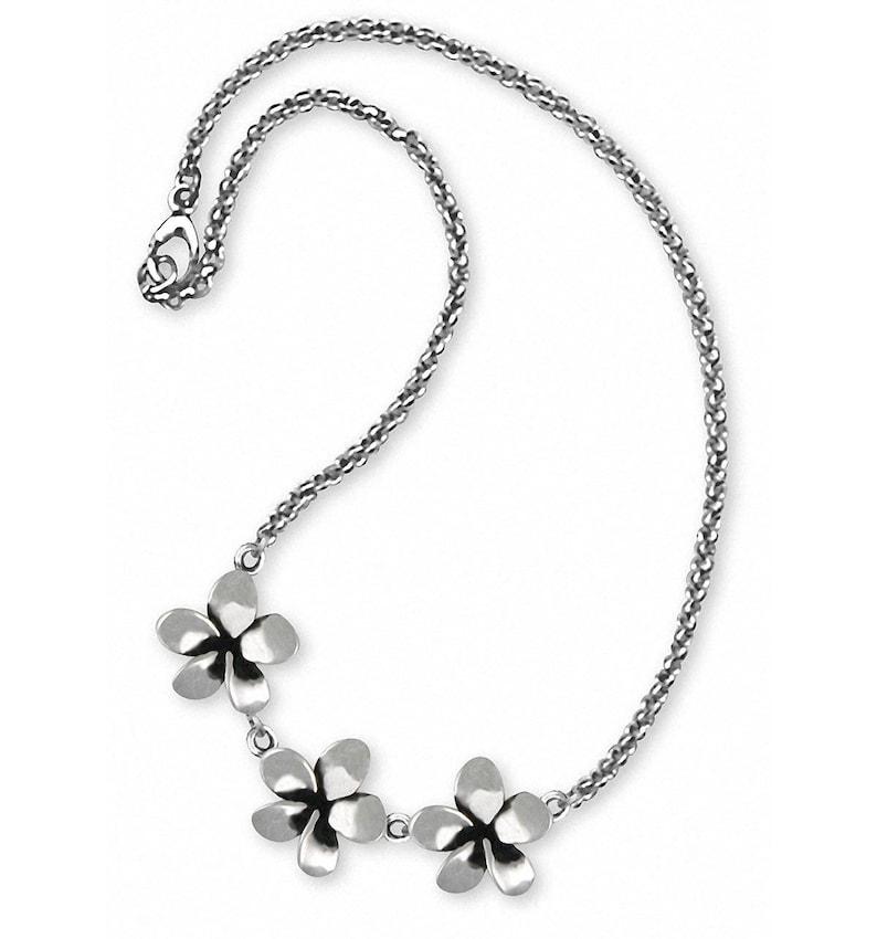 Plumeria Jewelry Plumeria Ankle Bracelet Jewelry Sterling Silver Handmade Flower Ankle Bracelet PLM1-A