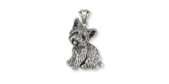 Yorkie Puppy Dog Yorkshire Terrier Lhasa Apso Charm for European Bead Bracelets