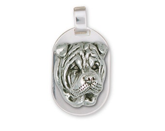 Shar Pei Pendant Jewelry Sterling Silver Handmade Dog Pendant SHP5-DT
