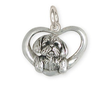 Solid Lhasa Apso Charm Jewelry LSZ23-C