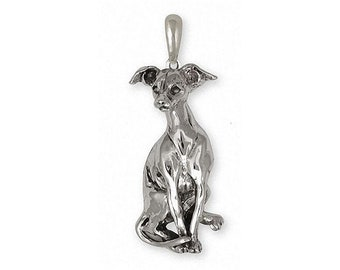 Italian Greyhound Pendant Jewelry Sterling Silver Handmade Dog Pendant IGH1-P