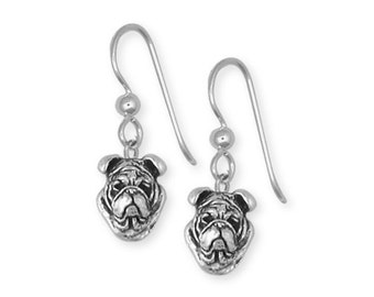 Sterling Silver Bulldog Earring Jewelry  BD20-E