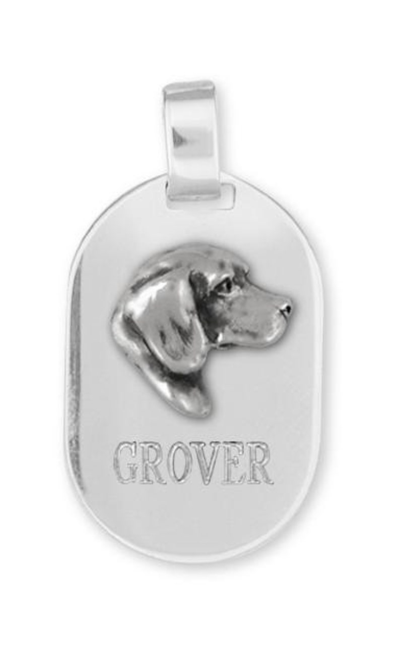 Beagle Dog Tag Pendant Jewelry Handmade Sterling Silver  BG17-DT