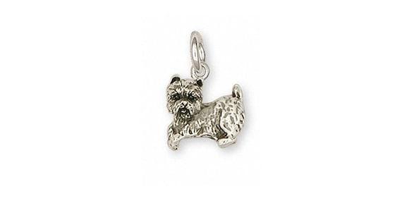 Tibetan Terrier Charm Jewelry Sterling Silver Handmade Dog Charm TTR3-C