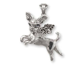 Chihuahua Angel Pendant Jewelry Sterling Silver Handmade Dog Pendant AD6-AP