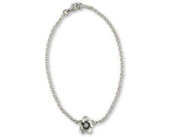 Cherry Blossom Bracelet Jewelry Sterling Silver Handmade Flower Bracelet CBB-B