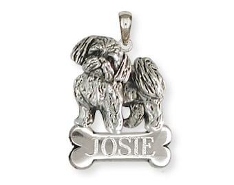 Personalized Silver Shih Tzu Pendant Jewelry  SZ21-NP