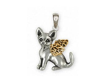 Chihuahua Angel Jewelry Silver And Gold Chihuahua Angel Pendant Handmade Dog Jewelry CHW12-TNAP