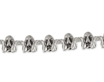 Basset Hound Jewelry Basset Hound Bracelet Jewelry Sterling Silver Handmade Dog Bracelet BAS6-BR