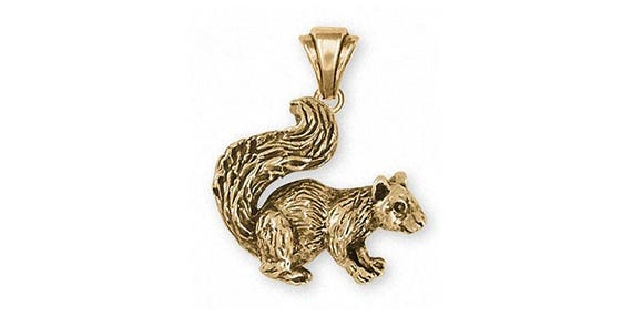 Squirrel pendant jewelry 14k gold handmade squirrel pendant etsy image 0 aloadofball Image collections