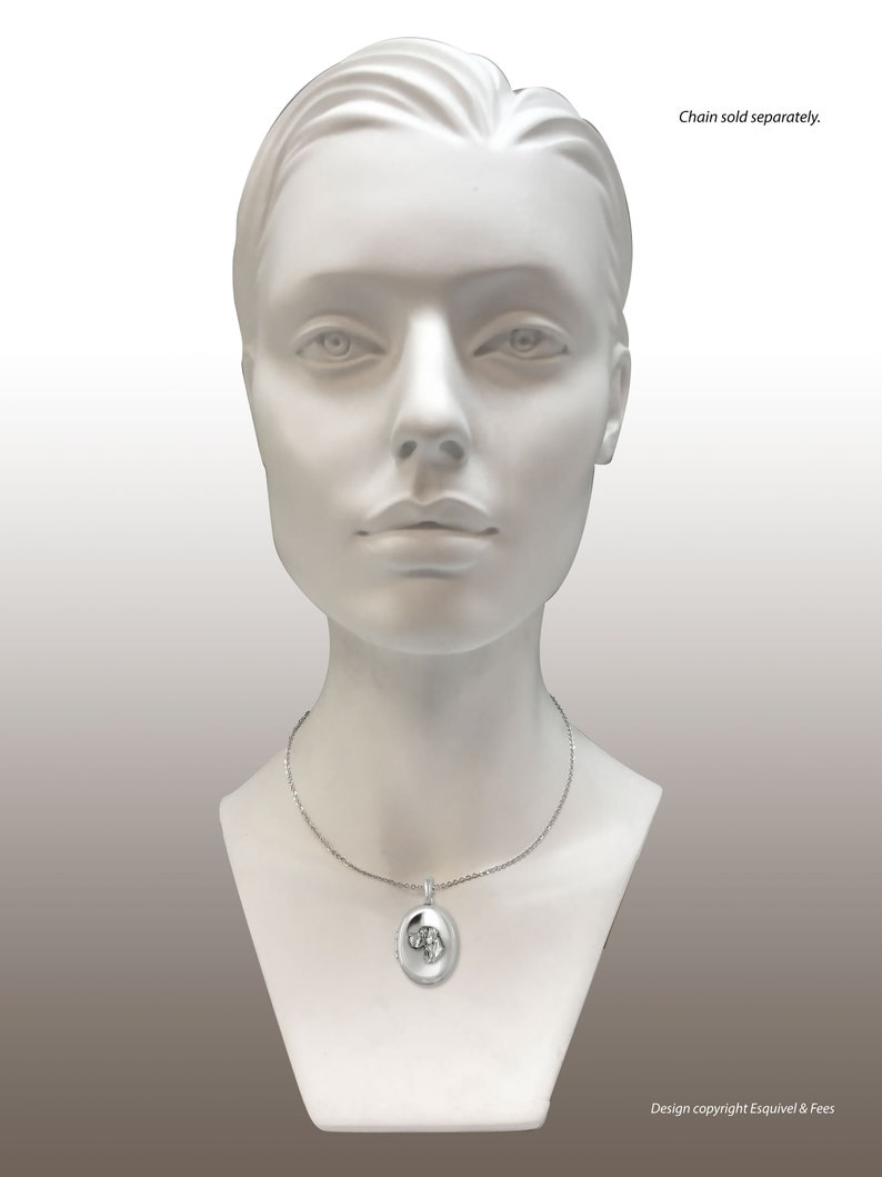 Great Dane Jewelry Sterling Silver Handmade Great Dane Photo Locket  GDL18H-V