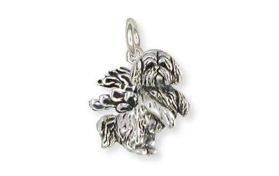 Shih Tzu Angel Charm Handmade Silver Shih Tzu Jewelry SZ26-AC