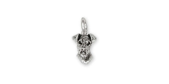 Airedale Terrier Charm Jewelry Sterling Silver Handmade Dog Charm AR12-C