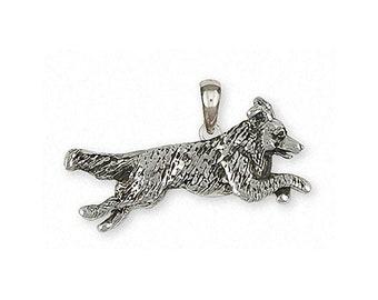 Border Collie Pendant Jewelry Sterling Silver Handmade Dog Pendant BDC41X-P