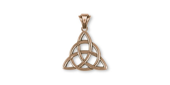 Father And Son Celtic Knot Pendant Jewelry Yellow Bronze