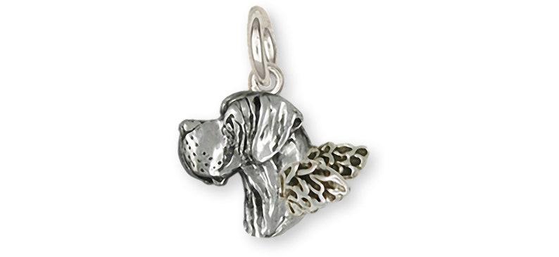 Great Dane Angel Jewelry Sterling Silver Handmade Great Dane Charm  GDL18H-AC