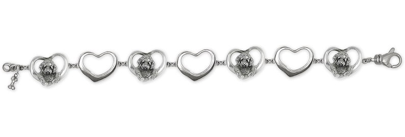 Goldendoodle Bracelet Jewelry Sterling Silver Handmade Goldendoodle Bracelet GDL6-BR