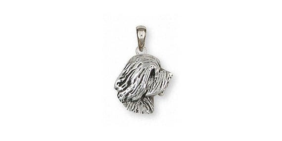 Tibetan Terrier Angel Pendant Jewelry Sterling Silver Handmade Dog Pendant TTR3