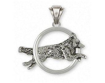 Border Collie Pendant Jewelry Sterling Silver Handmade Dog Pendant BDC41X-DP