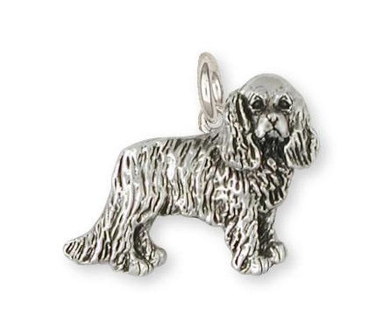 Cavalier King Charles Spaniel Charm Jewelry Handmade Sterling Silver CV11-C
