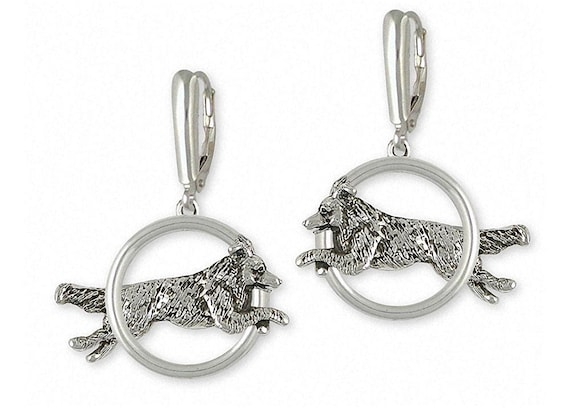 Collie Earrings Jewelry Sterling Silver Handmade Dog Earrings COL4-E