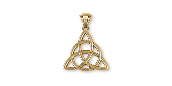 Father And Son Celtic Knot Pendant Jewelry 14k Gold Handmade Etsy