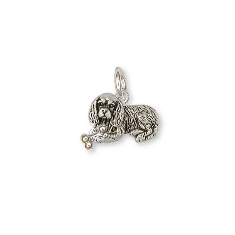 Cavalier King Charles Spaniel Charm Jewelry Gold Vermeil Handmade Dog Charm CV14