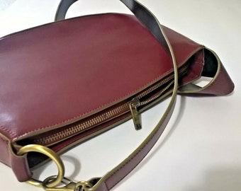 Armani Exchange Vintage Shoulder Purse, Designer Armani A X Brown Leather  Ladies Zip Top Shoulder Bag bd01e2cf2c
