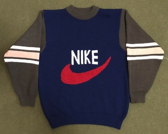 37811733fb52 Vintage 90 s Bootleg Nike Sweater Just Do It Blue Tag 1980 s 1990 s  Streetwear Color Block