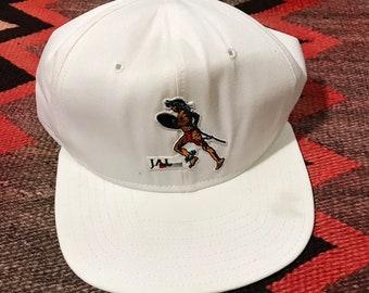 3f4f6dc3 Vintage 90's Nike Hat JAL Honolulu Marathon Hat 1990's Nike Swoosh
