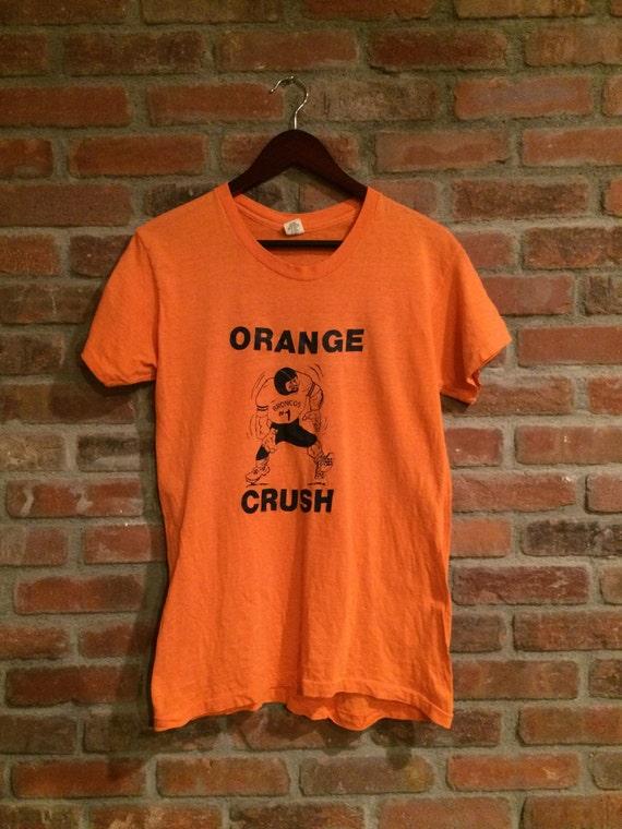 wholesale dealer f9e73 6484b Vintage 70's Denver Broncos Shirt Orange Crush NFL John Elway Made in USA  Hanes 1970's