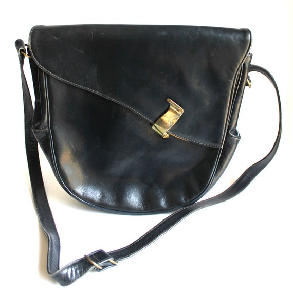 Vintage Navy Leather O'Connor & Goldber Chicago Pu