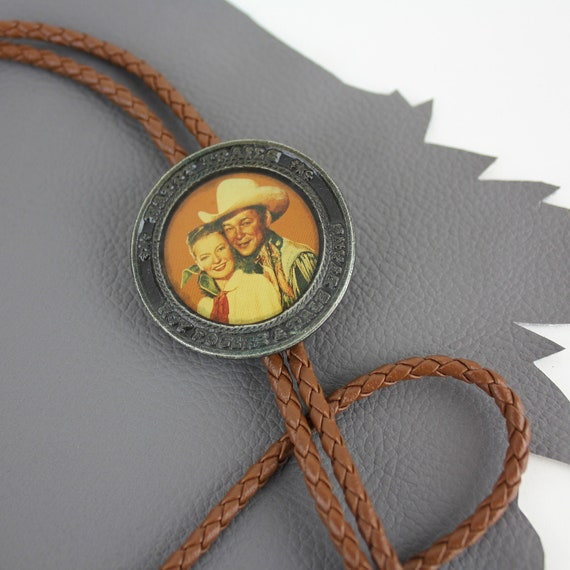 Happy Trails Roy Rogers and Dale Evans Bolo Tie wi