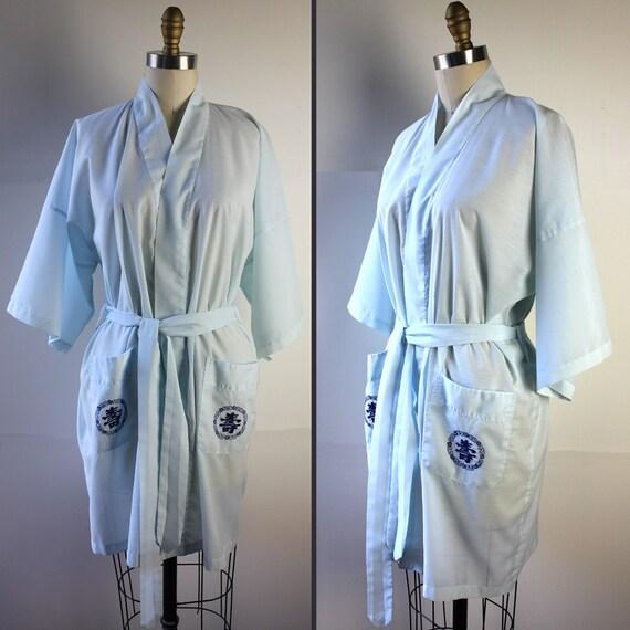 Baby Blue Kimono Robe