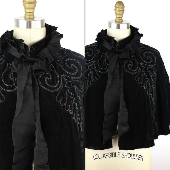 Black Velvet Cloak 19th Century