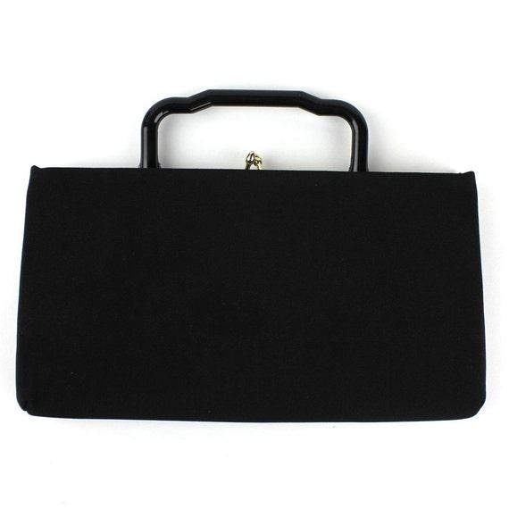 Vintage Black Polyester Convertible Purse / Clutch