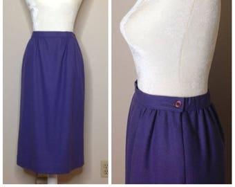 Vintage Pencil Skirt - Pendleton 100% Wool - M/L