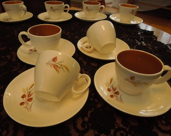 """Ever Yours """"Autumn Harvest"""" Tea Cup and Saucer Set of 4"""